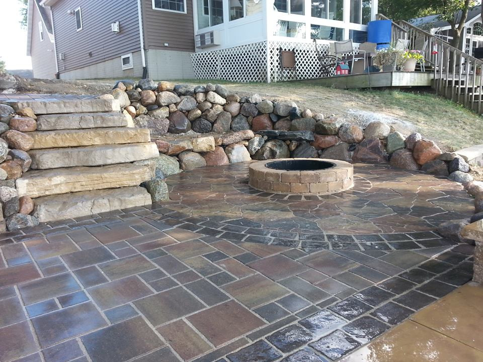 Firepit and Step Installation