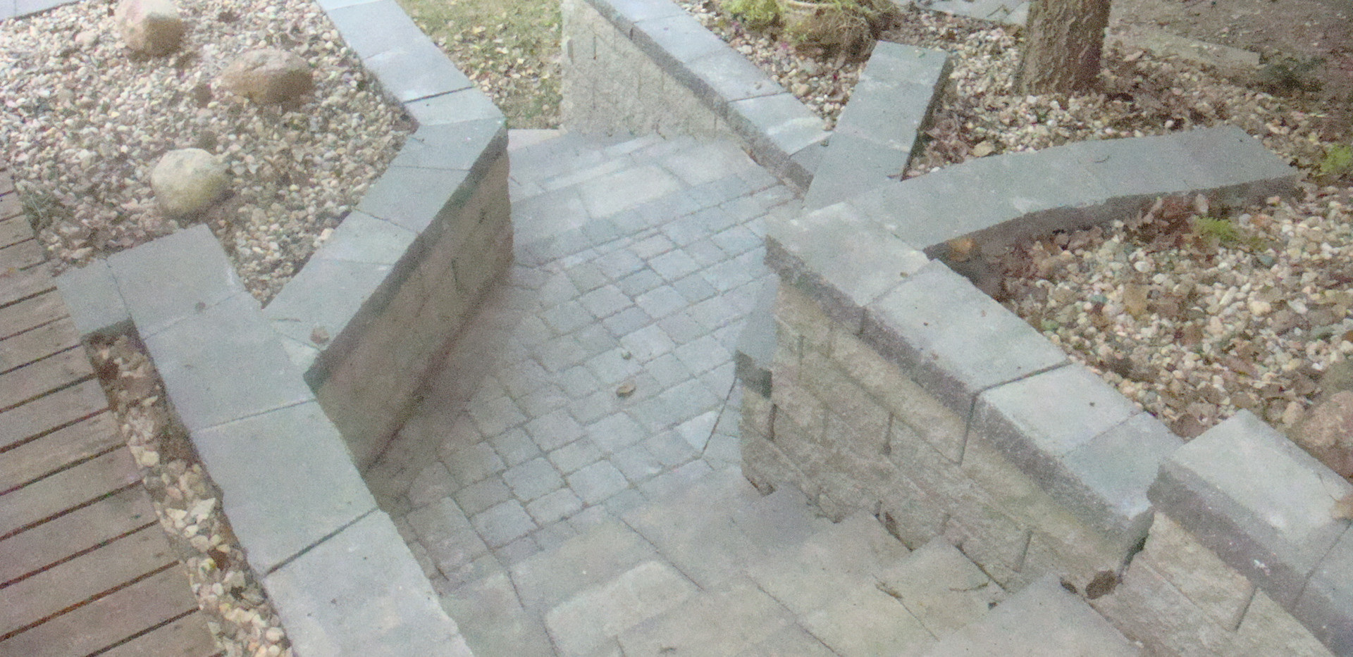 Tiered Retained Beds with Steps