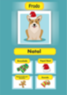 jogo freemium de cachorro com avatar acessórios de natal xmas