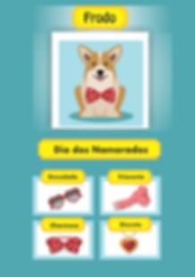jogo freemium de cachorro com avatar e acessórios de amor love
