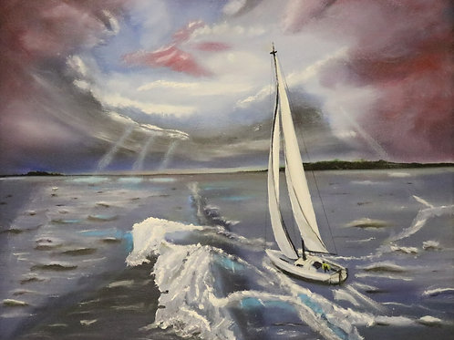 Sailing A Stormy Harbor