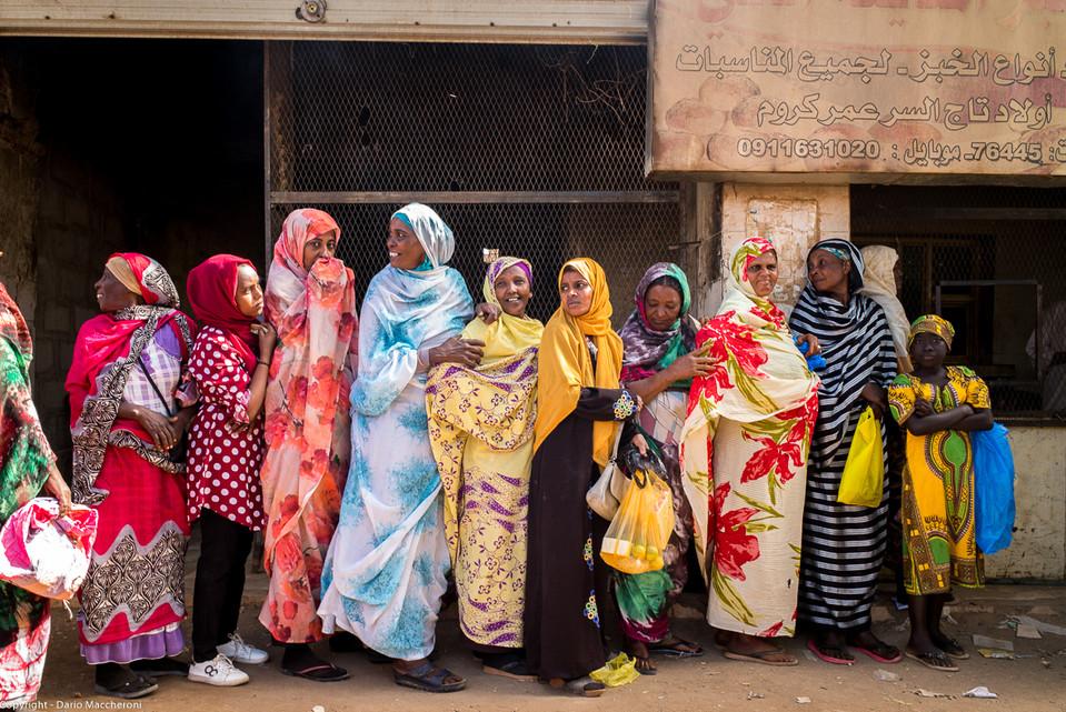 Women in queue