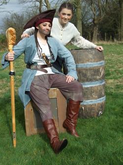 Long John Silver and Jim Hawkins