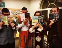 The cast at Penrith Library