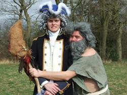 Captain Smollett and Ben Gunn