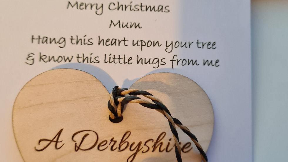 Merry Christmas Hanging heart tree decoration
