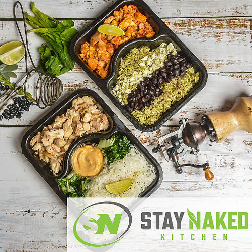StayNaked Kitchen Lunch (Vegetarian Option)