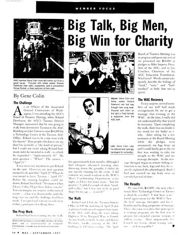 Big Talk, Big Men, Big Win for Charity - By Gene Colin