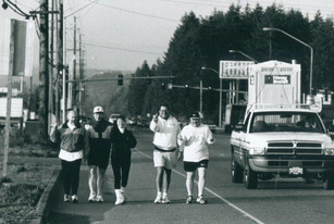 Gene Colin walks from Tacome to Seattle AGC Building to raise funds for Education Foundation
