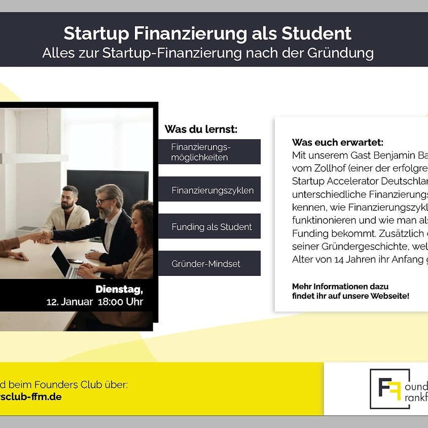 Startup Finanzierung als Student