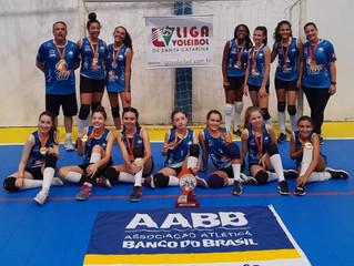 AABB é campeã da Liga de Voleibol de Santa Catarina, categoria Mirim Feminina