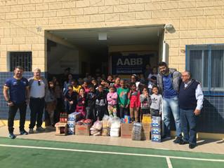 AABB doa alimentos a instituição de caridade