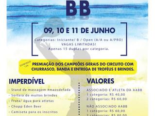 Abertas as inscrições para o Torneio de Beach Tennis da AABB
