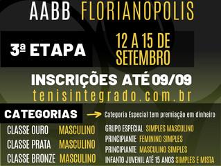 Nova etapa do Circuito de Tênis AABB Florianópolis será em setembro