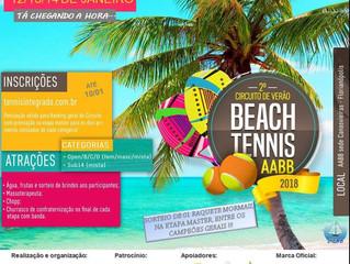 Torneio de Beach Tennis será disputado na Sede Balneária de Canasvieiras