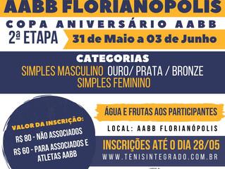 Abertas as inscrições para a 2ª Etapa da Copa AABB de Tênis