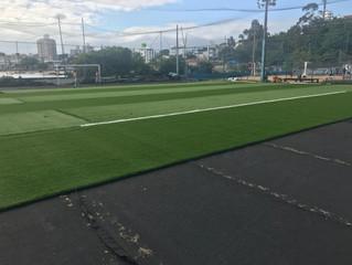 Prosseguem as obras de reforma do campo de futebol