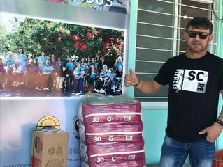 AABB doa mantimentos para instituições de caridade