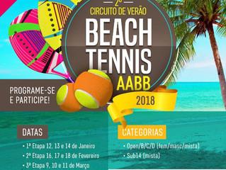 Circuito de Verão Beach Tennis começa no dia 13 de janeiro