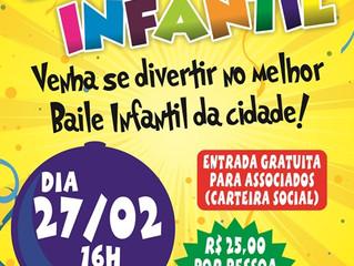 AABB vai realizar mais uma edição do Baile Infantil