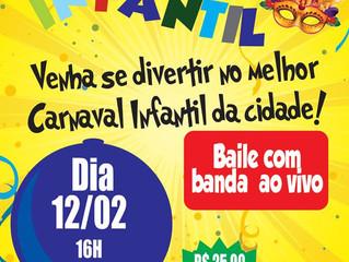 Carnaval Infantil da AABB será dia 12