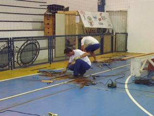 Iniciadas as obras de reforma do Ginásio de Esportes da AABB