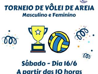Torneio de Vôlei de Areia será disputado no masculino e feminino