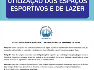 Definidas novas regras para utilização dos espaços esportivos e de lazer do Clube