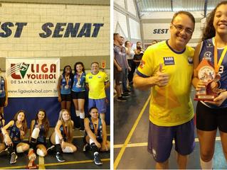 Equipe Pré-Mirim da AABB é vice-campeã da Liga de Voleibol de Santa Catarina