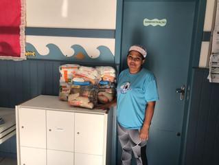 AABB distribui cestas básicas a instituições de caridade