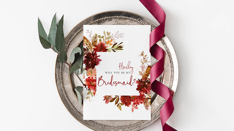 Autumn Boho Will you be my...? Cards