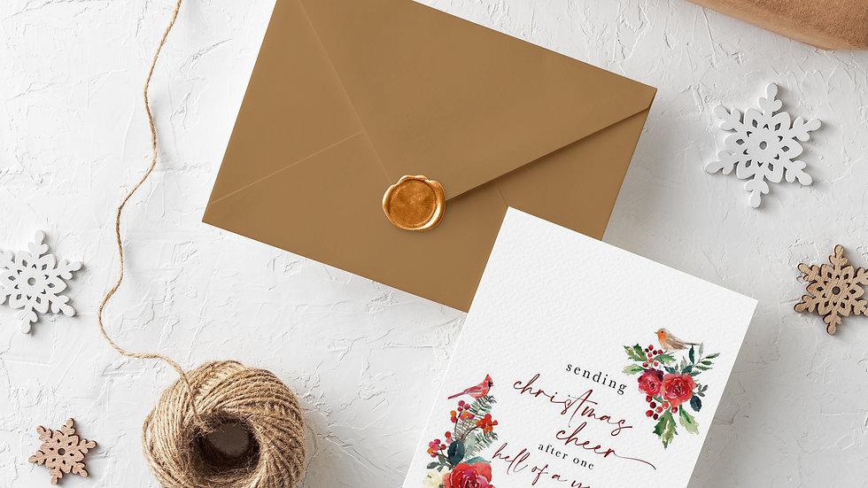 Single Christmas Card Send Some Christmas Cheer
