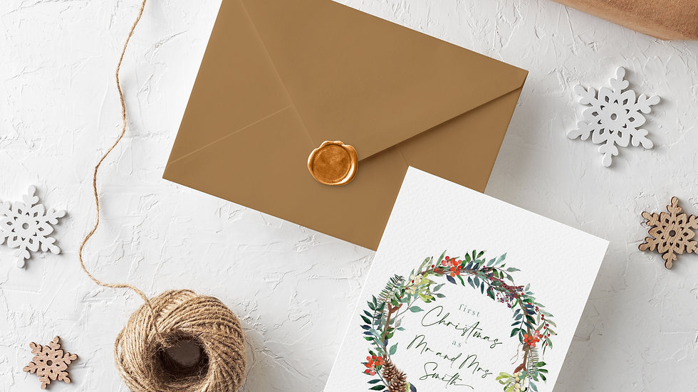Personalization Available Single Christmas Card
