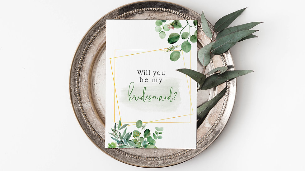 Eucalyptus Will you be my...? Cards Style 1