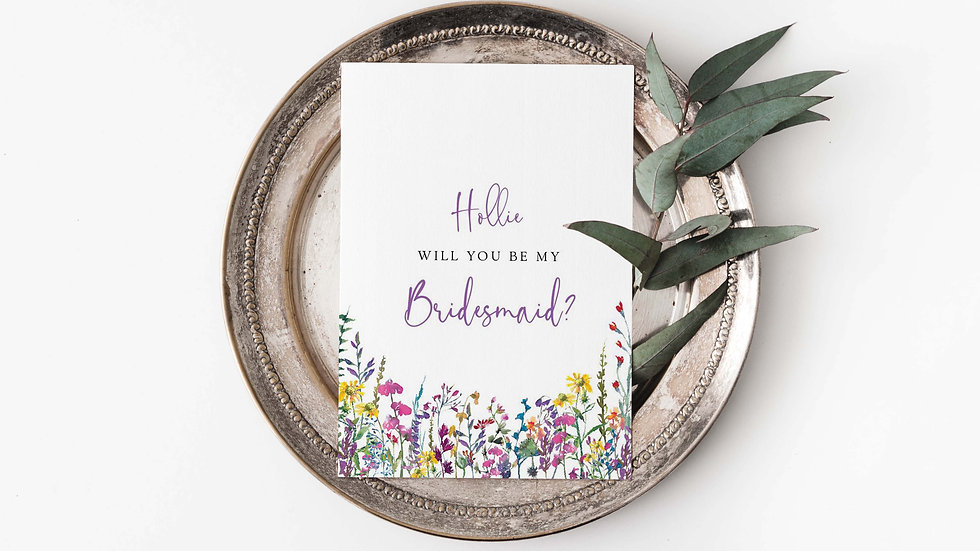 Bloom Will you be my...? Card