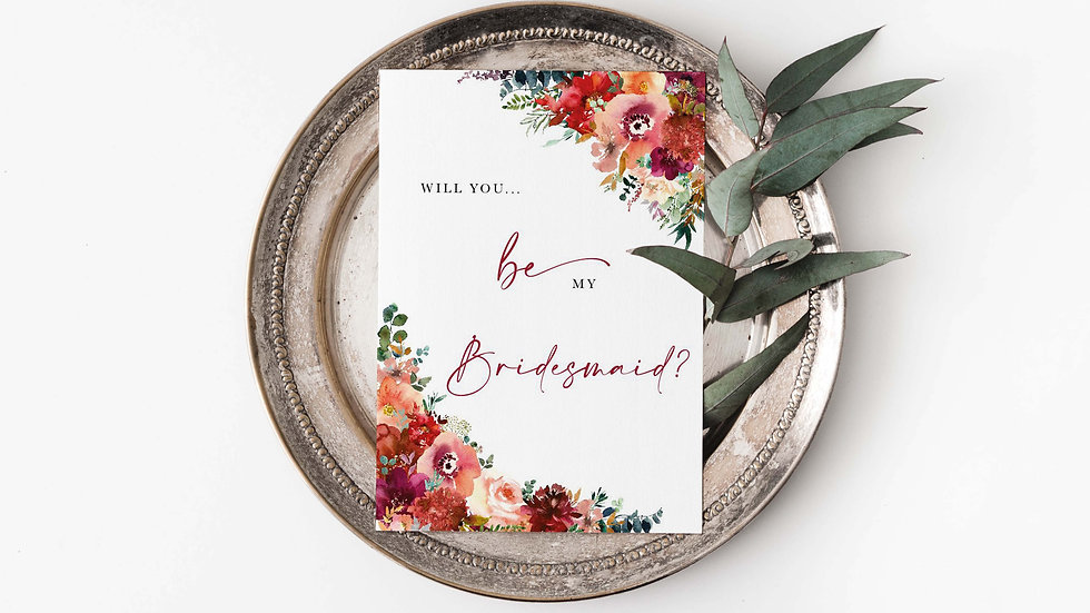 Wild Love Will you be my...? Card
