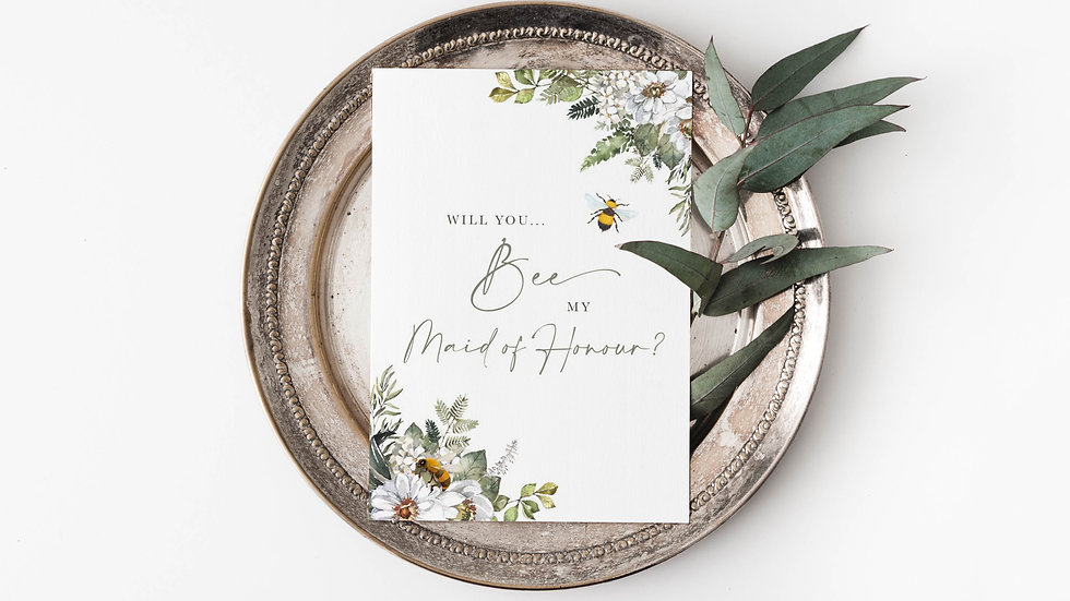 Will you BEE my...? Rustic Style