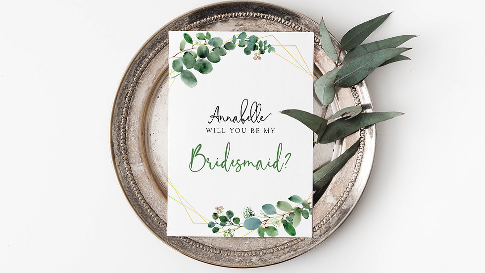 Eucalyptus Will you be my...? Cards Style 2