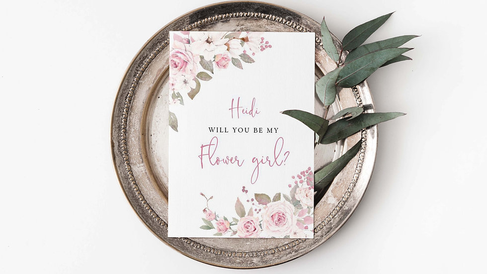Blossom Will you be my...? Card Style1