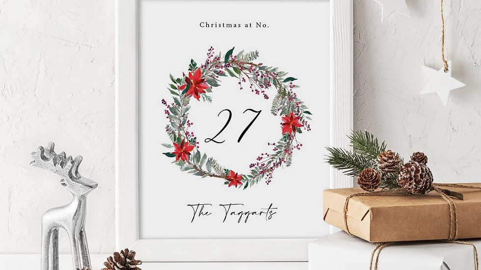 Christmas Print Personalization Available