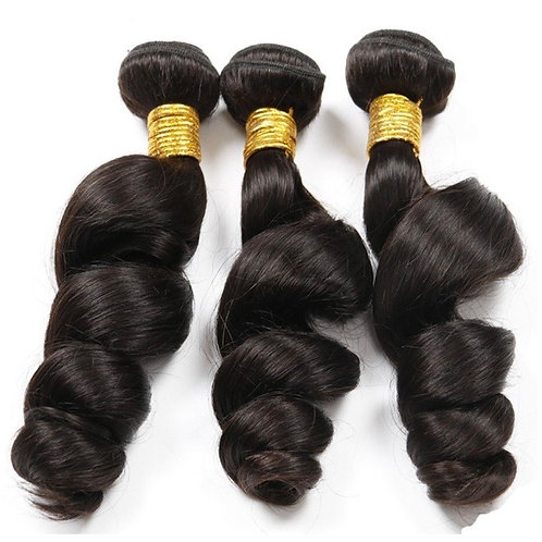 3 BUNDLE DEAL W/ FRONTAL-LOOSE WAVE