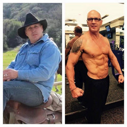 Now this is a transformation I can get excited about!!! Jeff Beebe is FIFTY FIVE years young!!! I wa