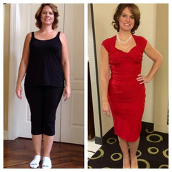 Facebook - Another amazing transformation from my team!!  In Amy's own words...  90 Day results
