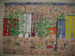 East Village, acrylic and charcoal on canvas, 2006