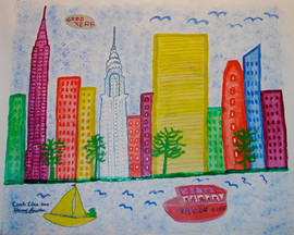 Circle Line, acrylic on canvas, 2006
