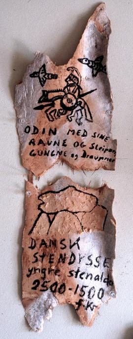 028 - The Shadows Installation - Odin with His Ravens (Odin Med Sine Ravne) - 13x8 in