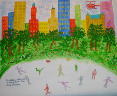 Wollman Skating Rink in Central Park, acrylic on canvas 2006
