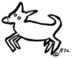 Ink Drawings - Blackie - H7L's Emblem