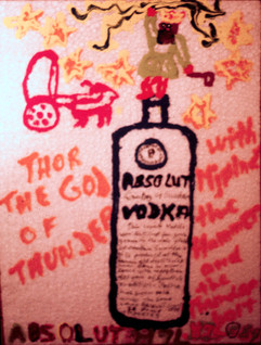 Absolut II Acrylic paint on styrofoam