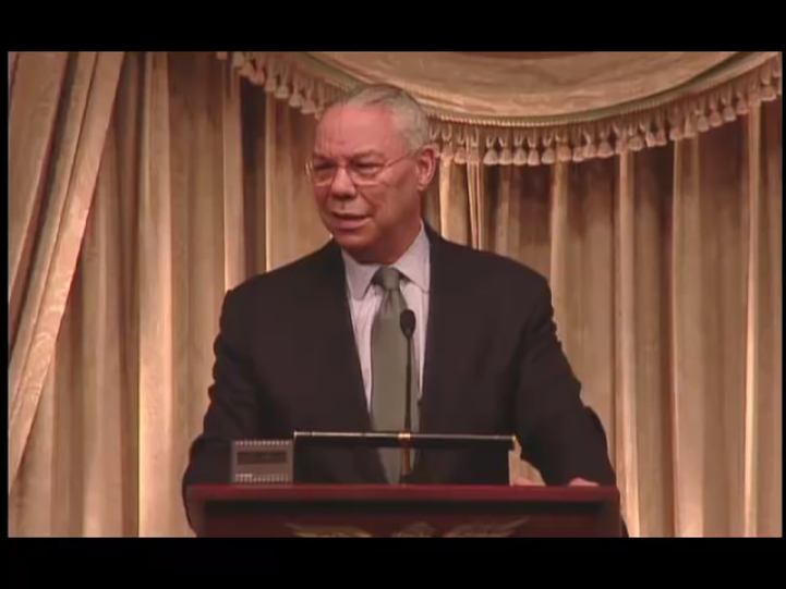 Colin Powell talking about trust